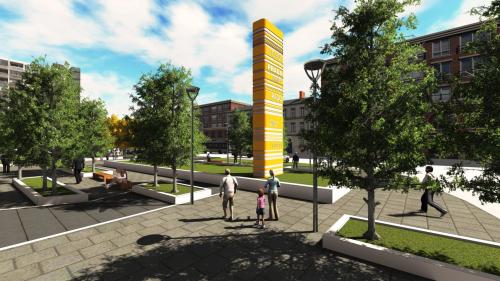 王丝丝 环艺设计 双流商业街景观设计1